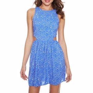 Delias Heart Cut Out Halter Flirty Dress